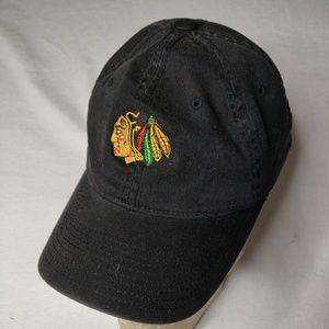 Blackhawks flexfit black hat size s/m clean!